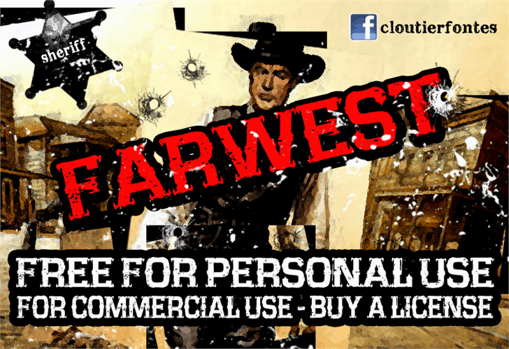 CF Farwest Font text poster