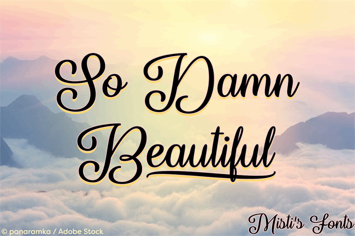 So Damn Beautiful Font text typography