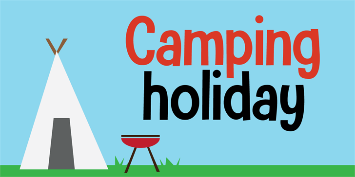Camping Holiday DEMO Font design graphic