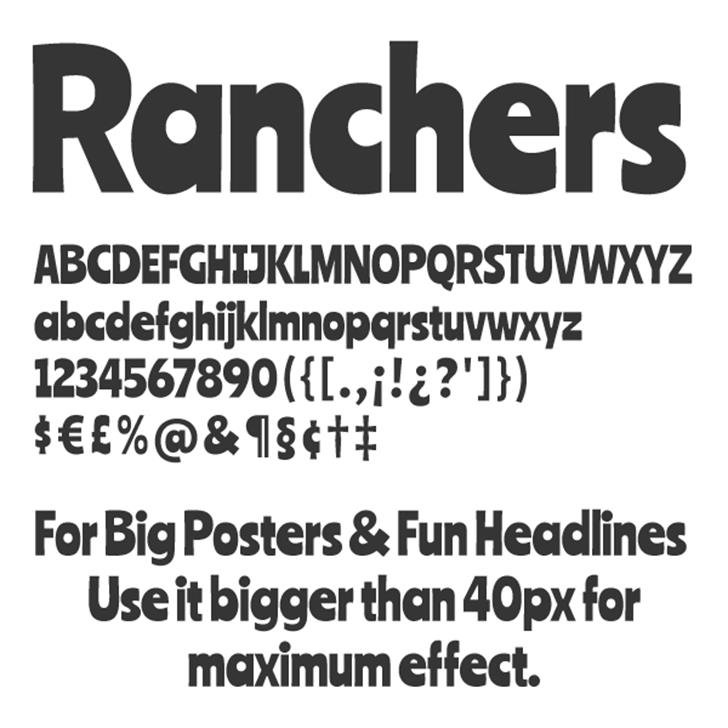 Ranchers Font screenshot font