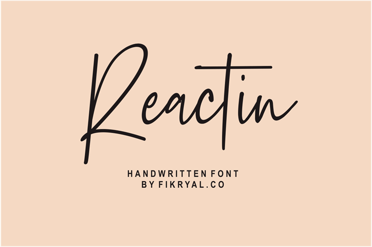 Reactin Font handwriting