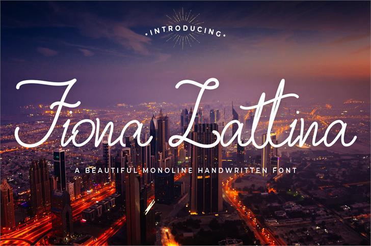 Fiona Lattina Font sky night
