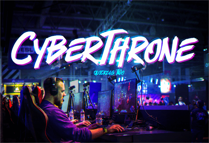 Cyberthrone Font concert person