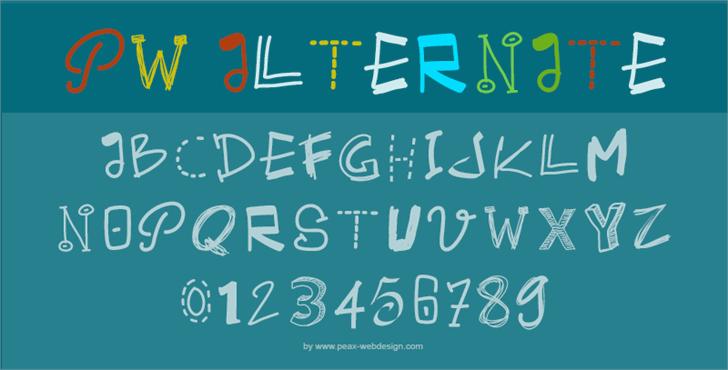 PWAlternate Font handwriting design