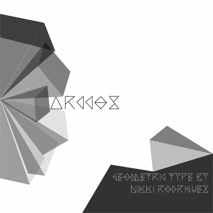 Arccos Font design umbrella