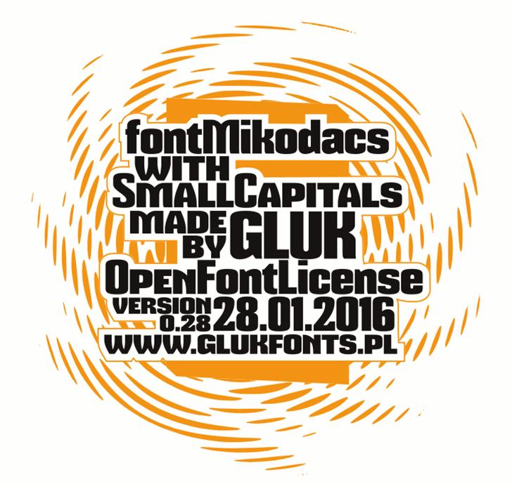 Mikodacs Font design graphic