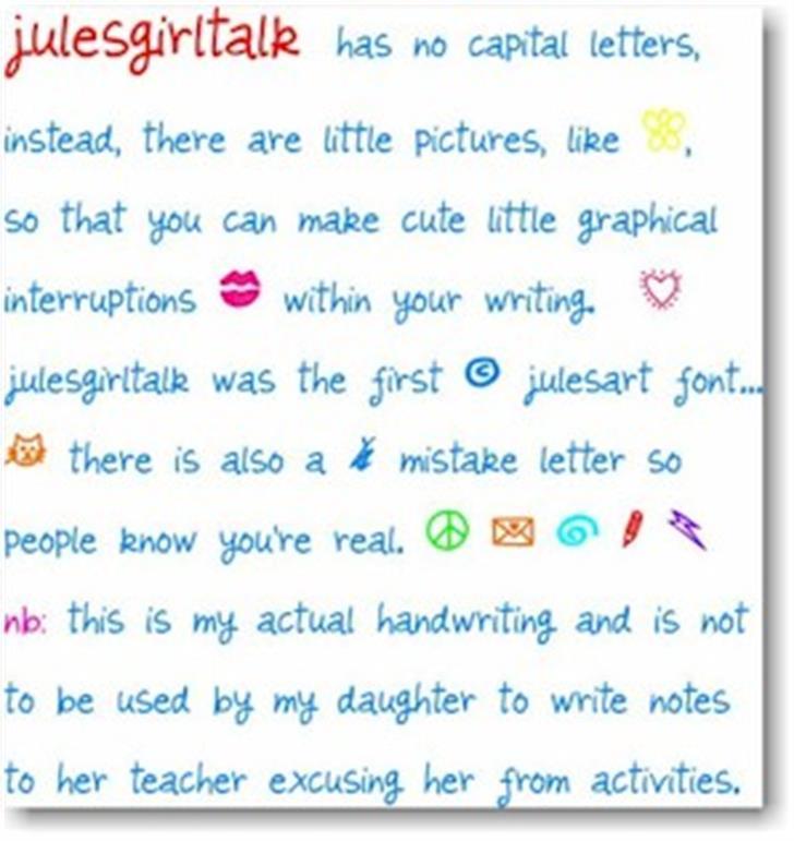 julesgirltalk font by julesart