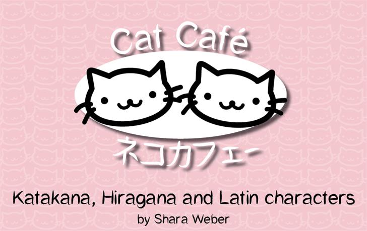 CatCafe font by Shara Weber
