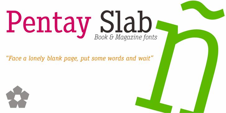 Pentay Book Font screenshot design