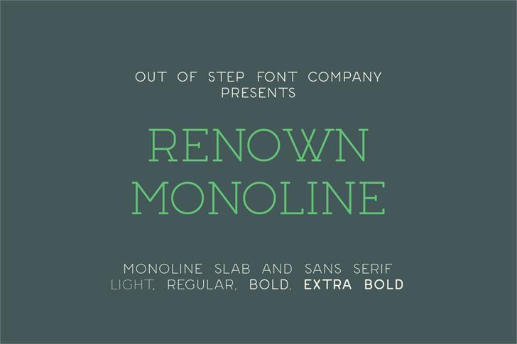 Renown Monoline Demo Font screenshot