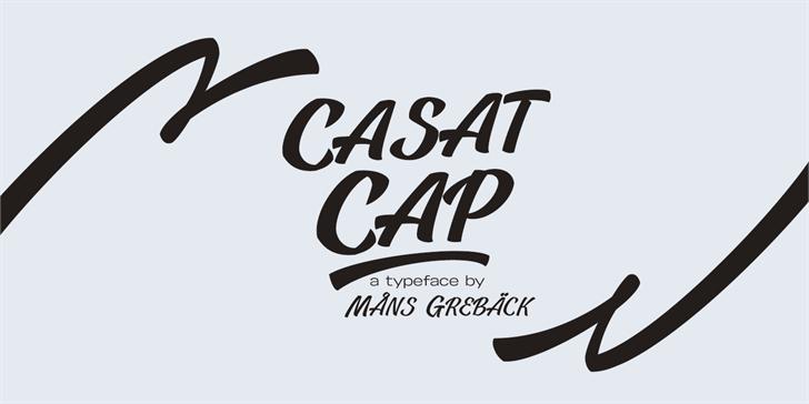 Casat Cap Thin PERSONAL USE font by Måns Grebäck