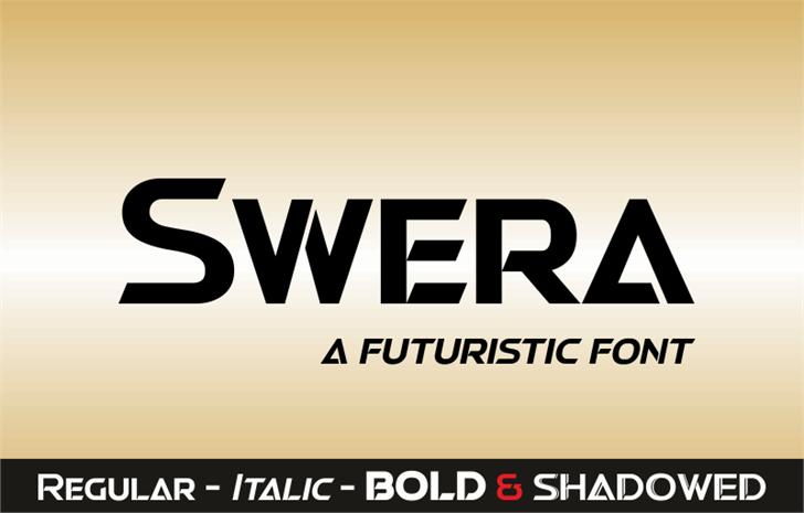 Swera Demo Font screenshot design