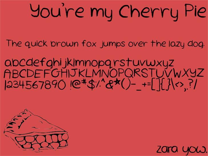 Cherry Pie Font cartoon text