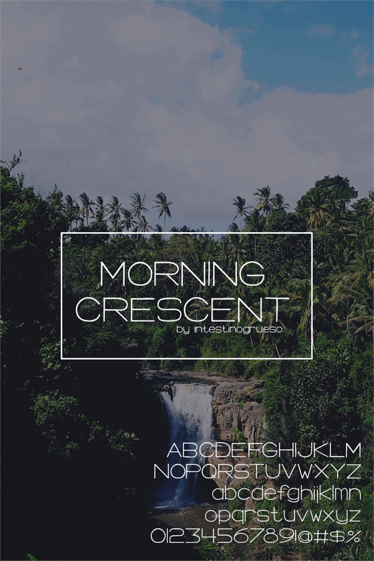 Morning Crescent Font tree text