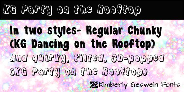 KG Party on the Rooftop Font - FontSpace