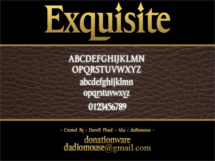 Exquisite Font screenshot text