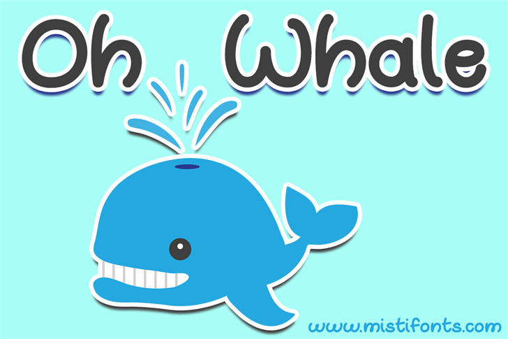 Oh Whale Font cartoon design