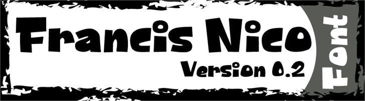 FrancisNico Font design cartoon