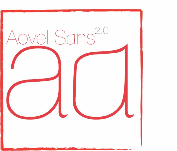 Aovel Sans Font design screenshot