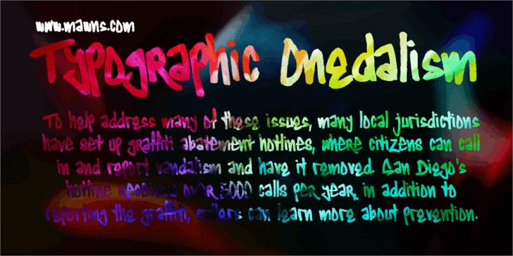 Typographic Onedalism Font screenshot text