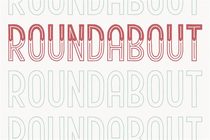 Roundabout Font typography font