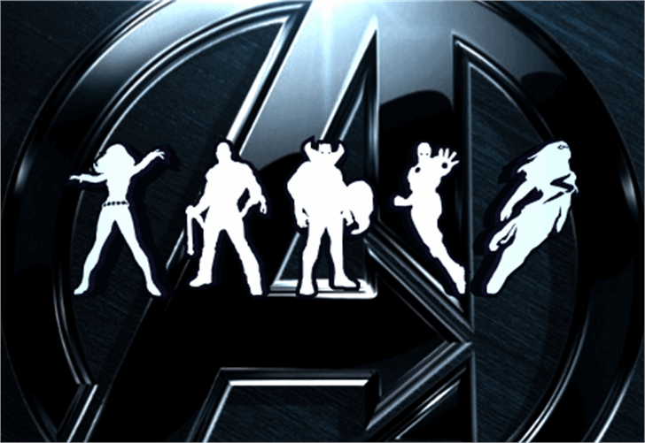 Heroes Assemble Dingbats Font cartoon design