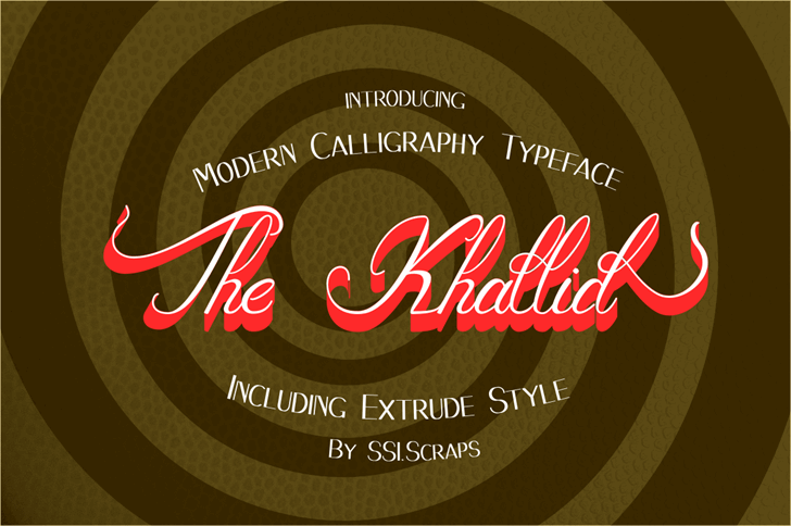 The_Khallid Font design logo