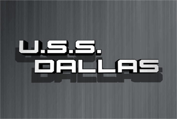 U.S.S. Dallas Font screenshot curtain