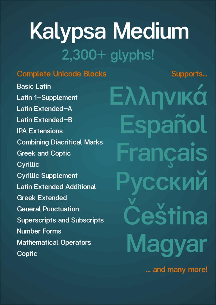 Kalypsa font by Explogos