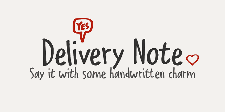 Delivery Note DEMO Font poster