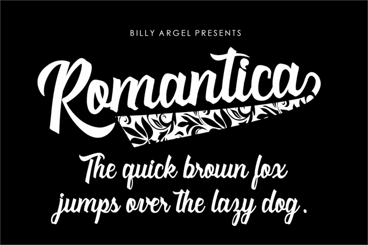 Romantica Personal Use Font design text