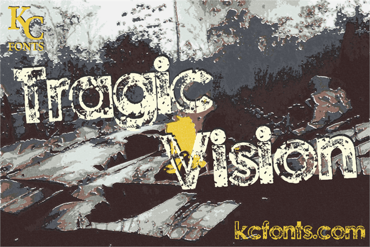 Tragic Vision Font drawing cartoon