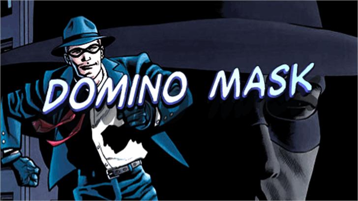 Domino Mask Font cartoon headdress