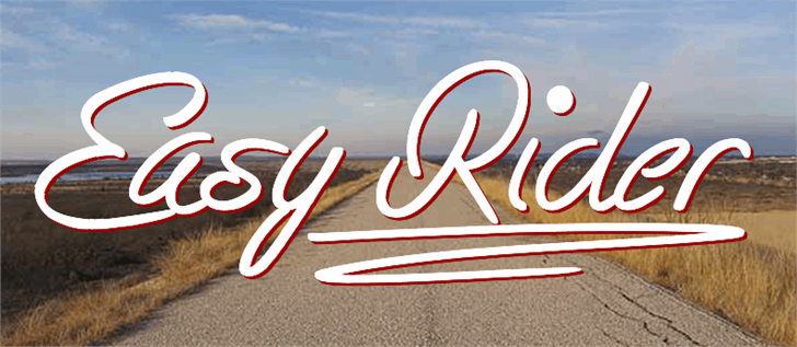 Easy Rider Font design