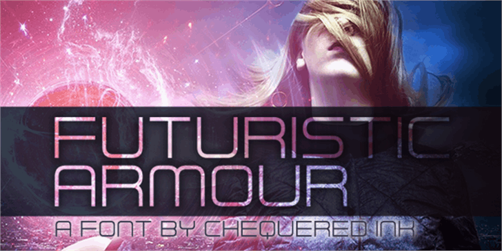 Futuristic Armour font by Chequered Ink