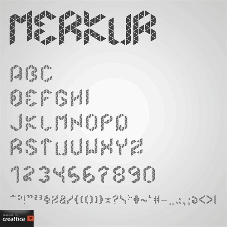 Merkur font by Malwin Béla Hürkey
