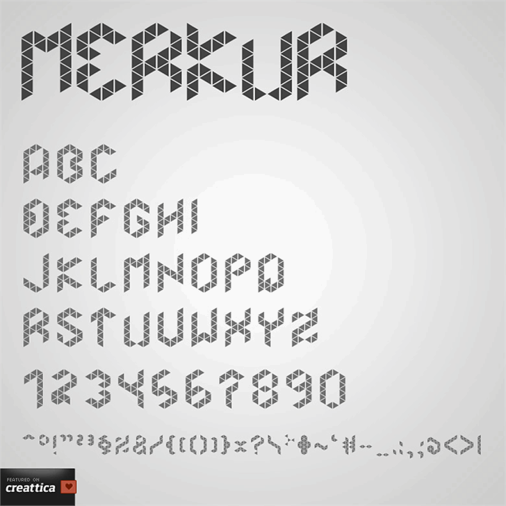Merkur Font handwriting text