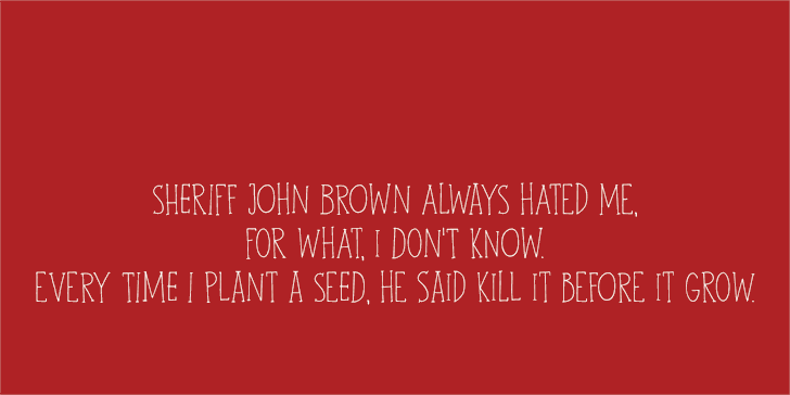 DK John Brown Font screenshot design