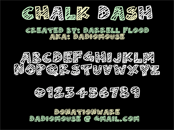 Chalk Dash Font screenshot typography