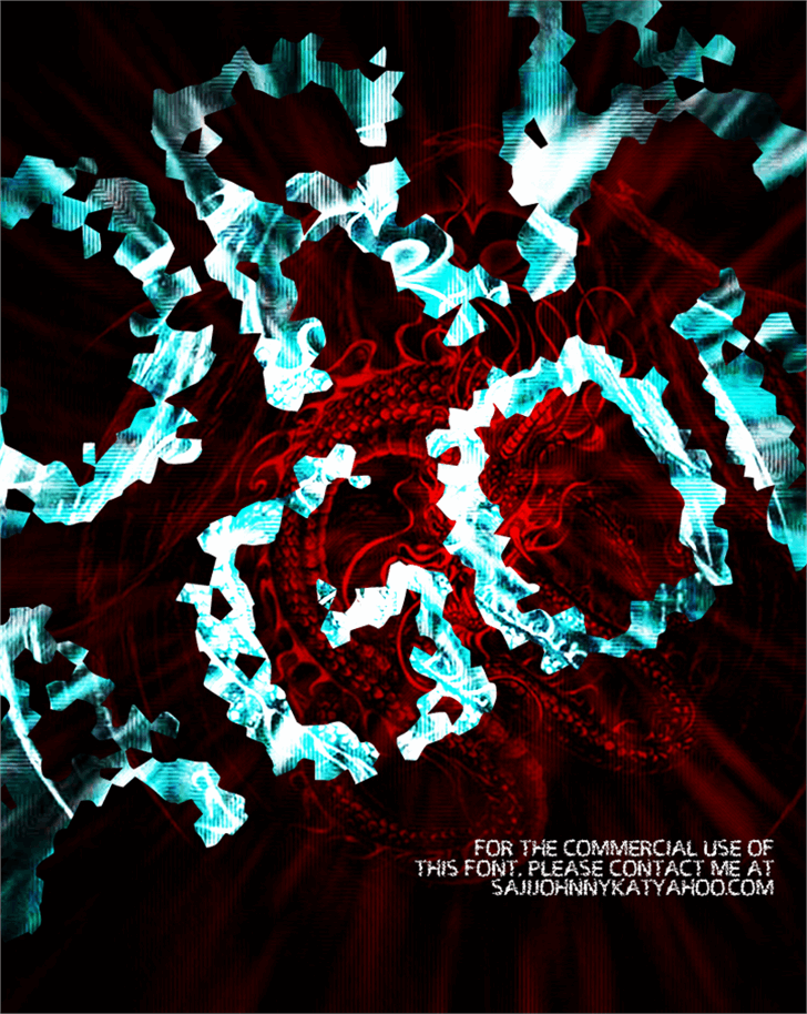 DRAGON Font abstract art