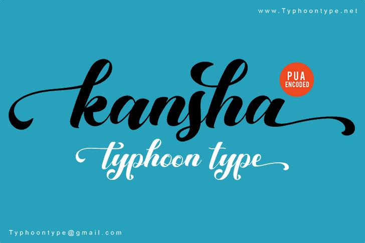 Kansha font by Typhoon Type - Suthi Srisopha