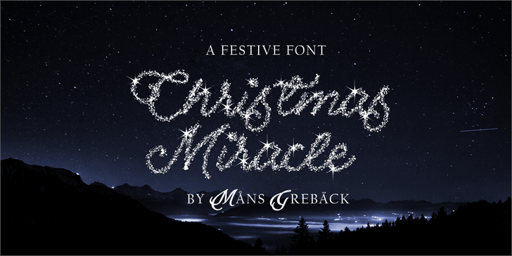 Christmas Miracle PERSONAL USE Font fireworks text