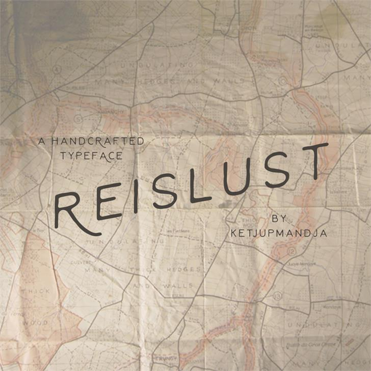 Reislust Font text map