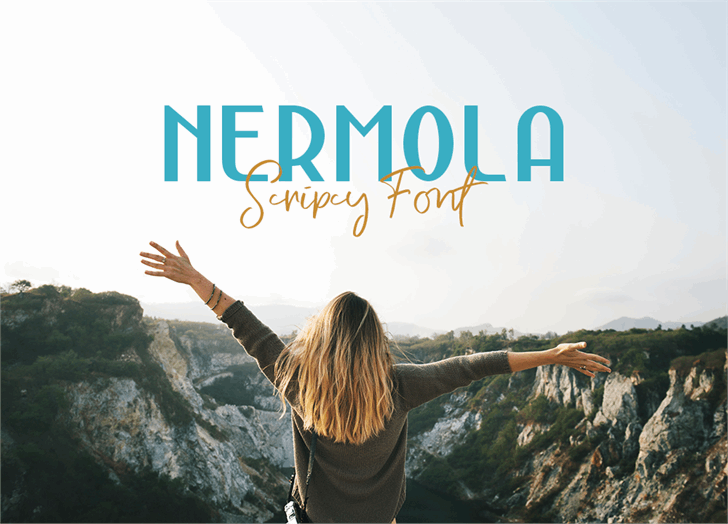 Nermola Script Font outdoor nature