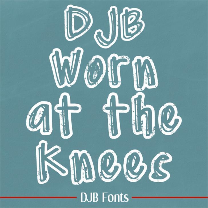 DJB Worn at the Knees Font blackboard handwriting