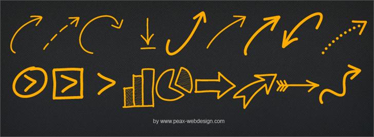 PWNewArrows font by Peax Webdesign