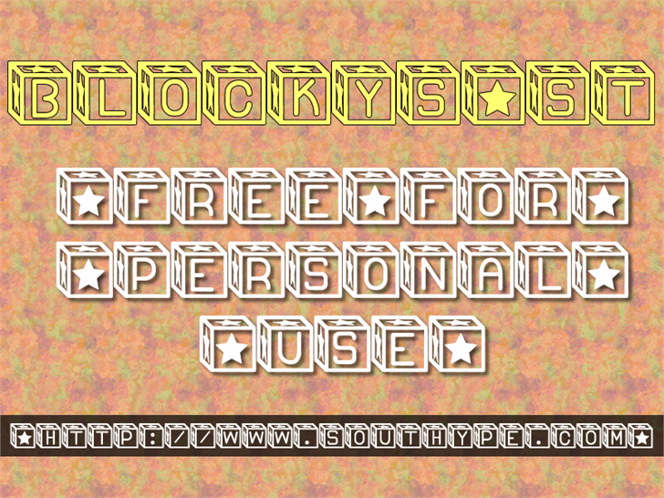 Blockys St Font text screenshot