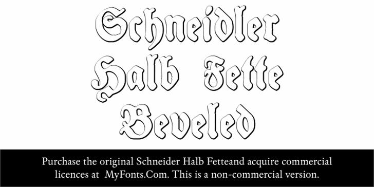 Schneidler Halb Fette Beveled Font handwriting drawing