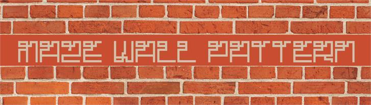 Maze Font brick outdoor