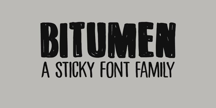 DK Bitumen Font typography design